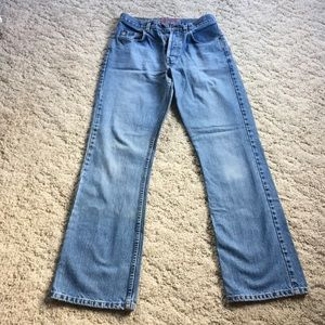 Vintage Silver Button Fly Jeans